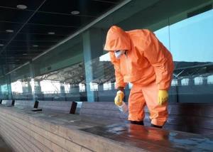 ورزشگاه شهدای فولاد در اهواز ضد عفونی شد