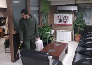 ضدعفونی سازمان لیگ وفدراسیون فوتبال توسط قرارگاه جهادی ثامن