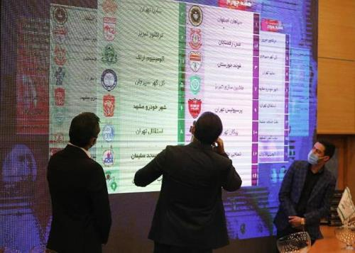 4) قرعه کشی لیگ برتر فصل ۱۴۰۰-۱۳۹۹