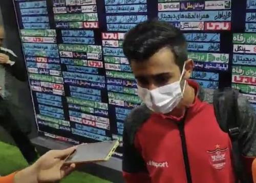 مصاحبه احسان پهلوان بعد از بازی پرسپولیس - نساجی