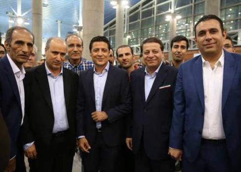استقبال تاج، ساکت و مسئولان ورزش از تیم داوری ایران در جام جهانی