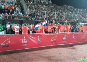 حاشیه مراسم اهدای جام قهرمانی پرسپولیس
