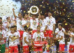 مراسم جشن قهرمانی پرسپولیس در جام حذفی